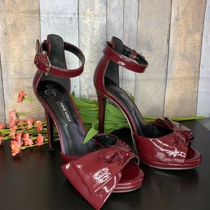 Nine West patent leather burgundy heels